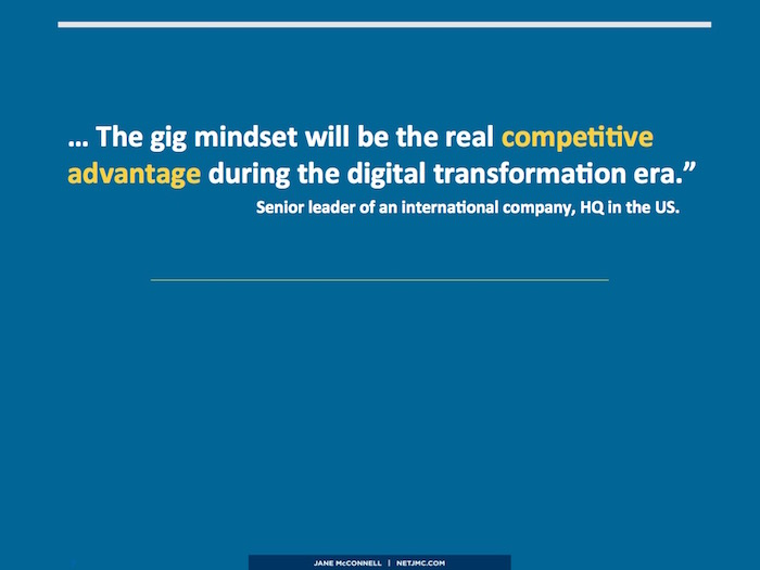 gig mindset competitive advantage